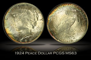 1924 Peace Dollar PCGS MS63