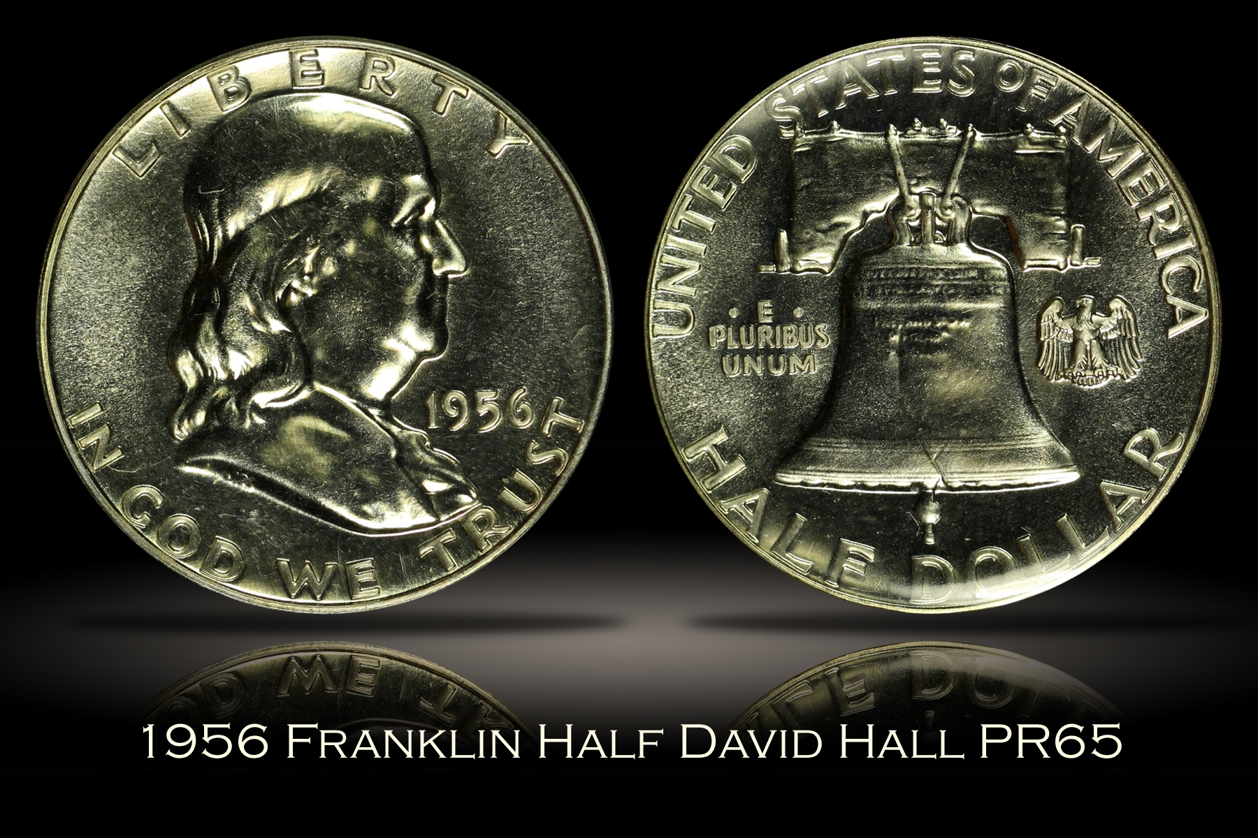 1956 Proof Franklin Half David Hall's Numismatic Investment Group PR65