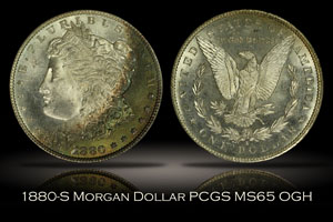 1880-S Morgan Dollar PCGS MS65 OGH
