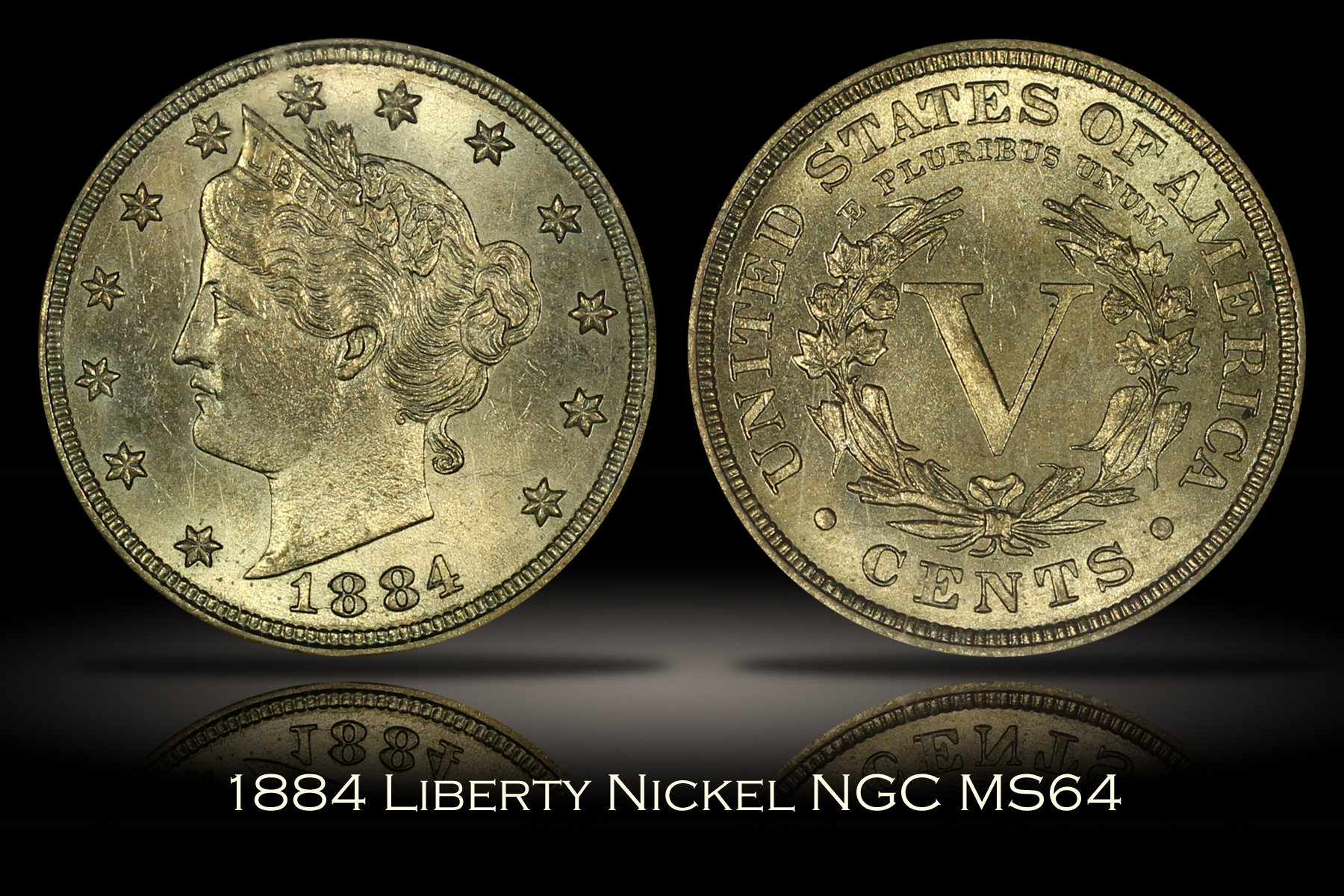 1884 Liberty Nickel NGC MS64