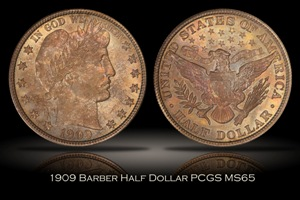 1909 Barber Half Dollar PCGS MS65