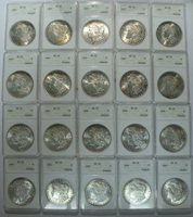 1885 Morgan Dollar ANACS MS62 Roll of 20 Coins
