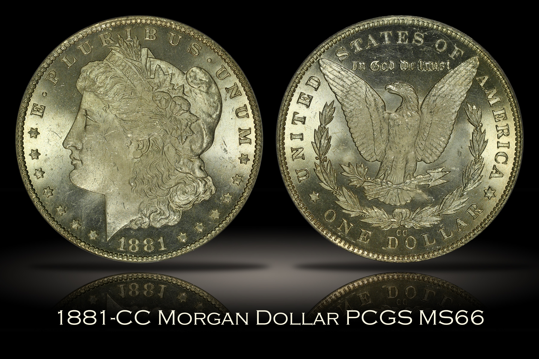 1881-CC Morgan Dollar PCGS MS66