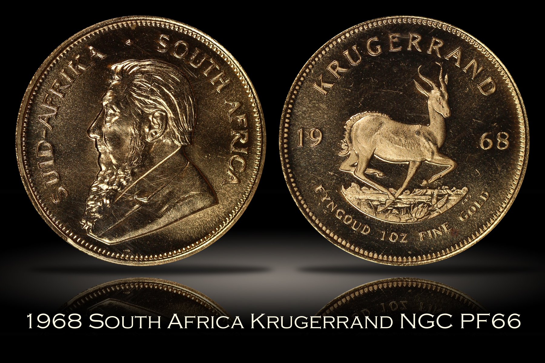 1968 South Africa Gold Krugerrand NGC PF66