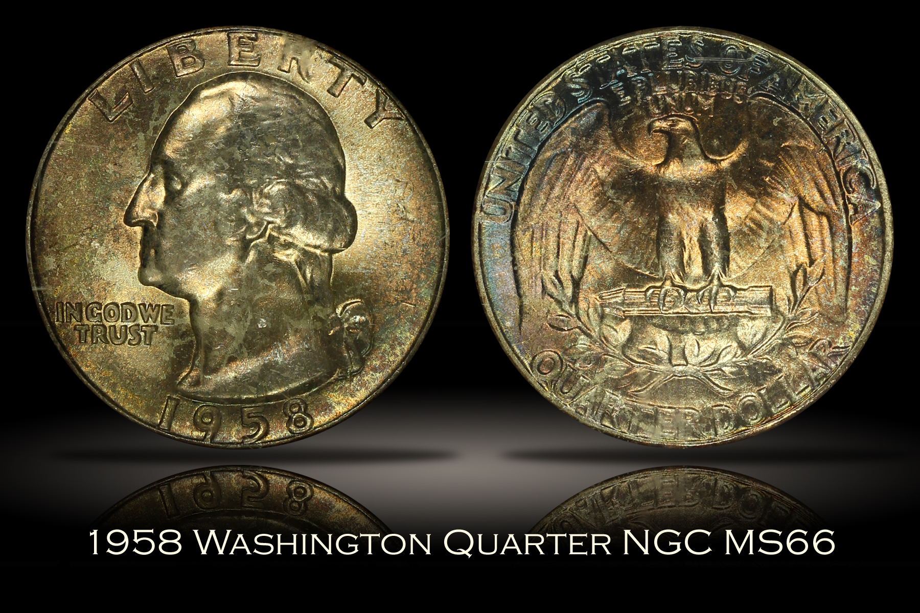 1958 Washington Quarter NGC MS66