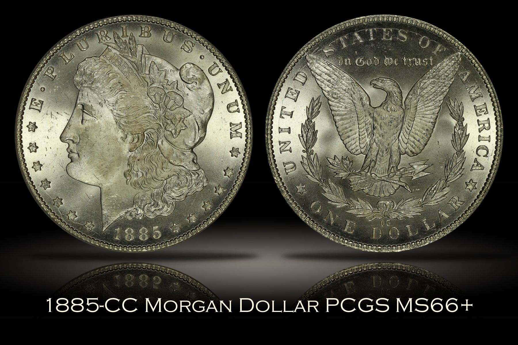 1885-CC Morgan Dollar PCGS MS66+