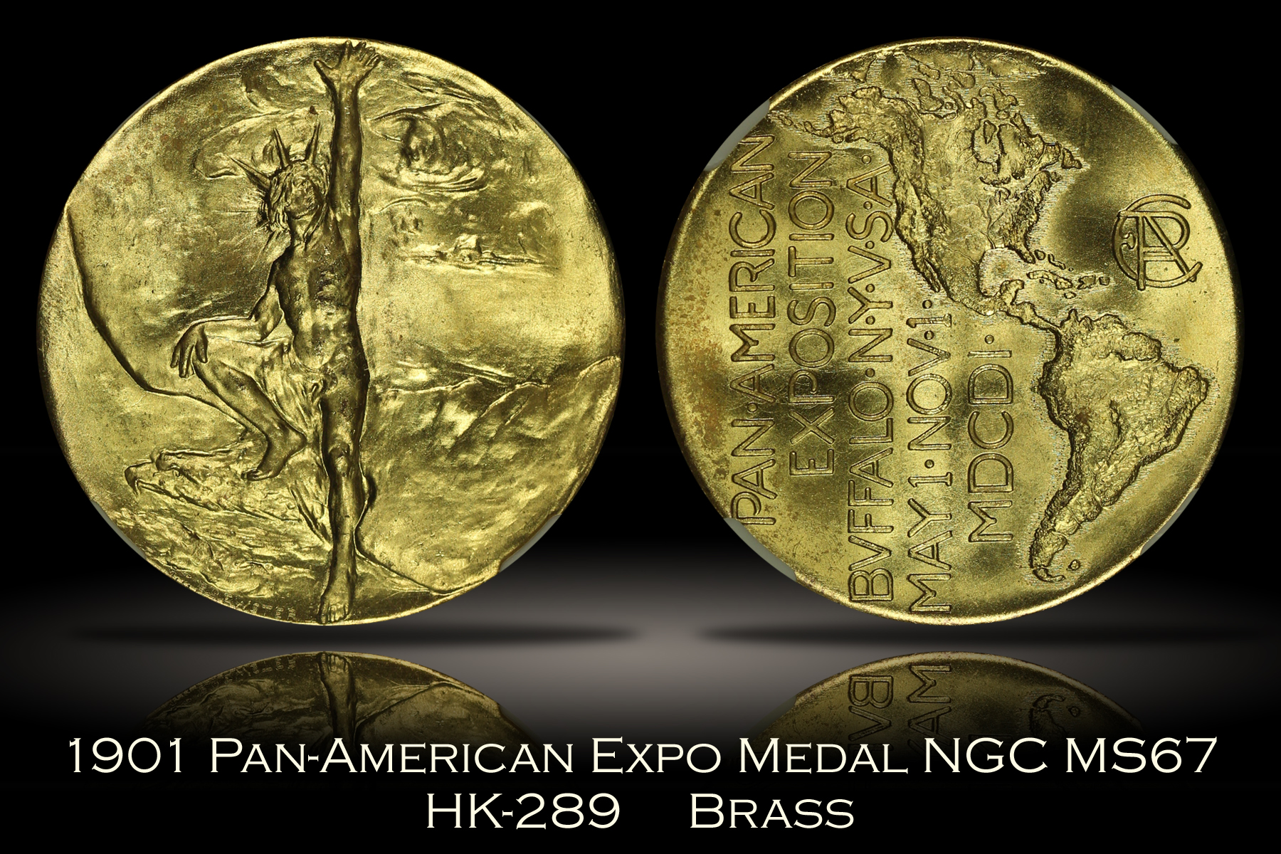 1901 Pan-American Expo Official Medal HK-289 NGC MS67