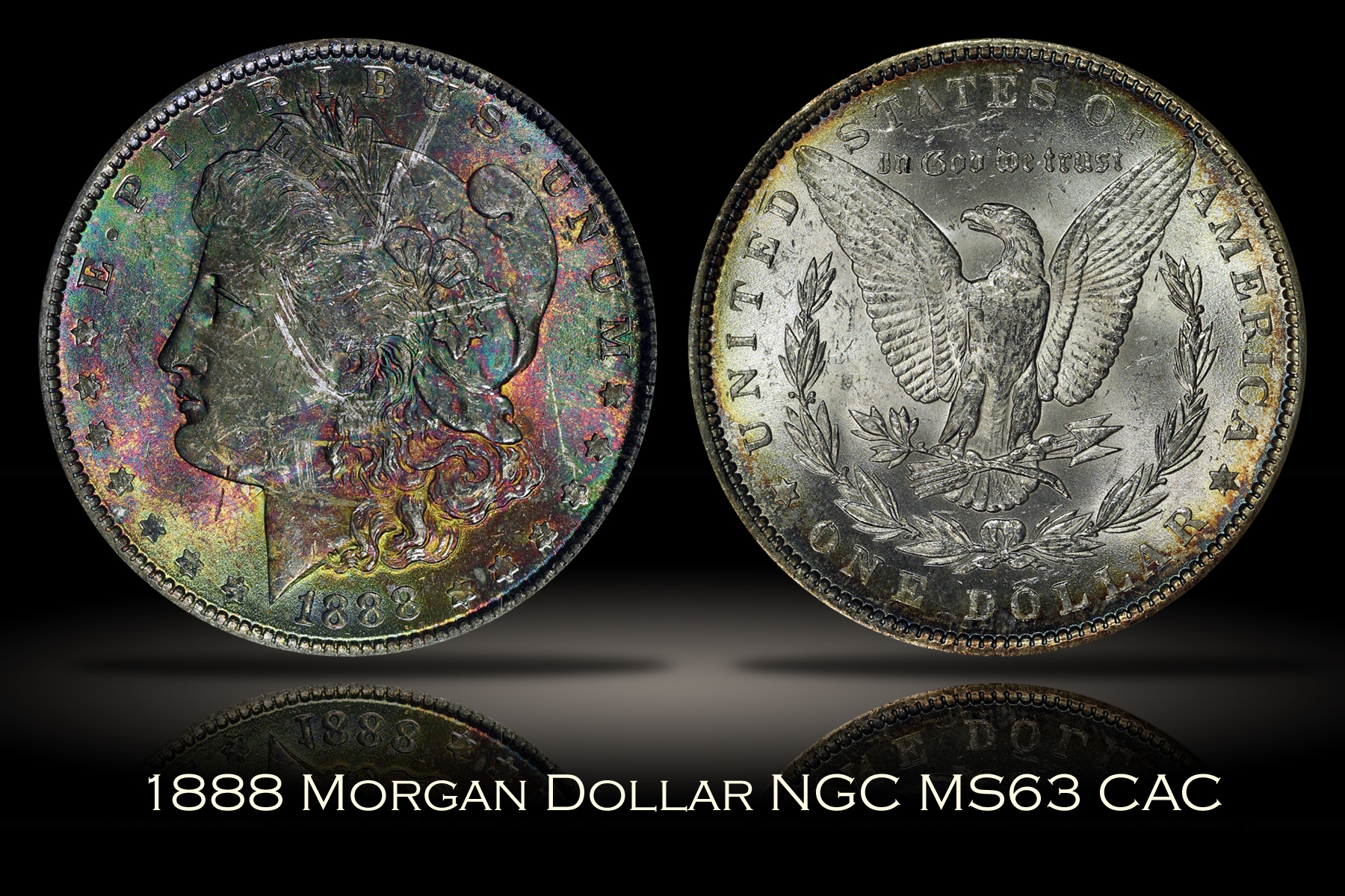 1888 Morgan Dollar NGC MS63 VAM-11A
