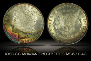 1880-CC Morgan Dollar PCGS MS63 CAC