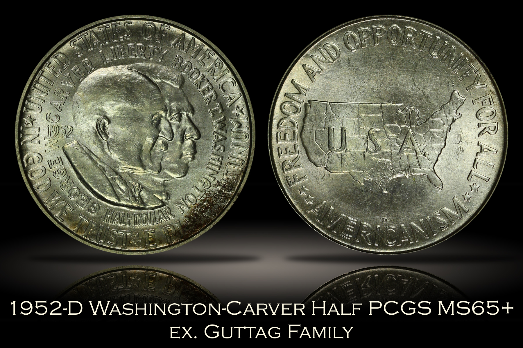 1952-D Washington-Carver Half PCGS MS65+ CAC ex. Guttag Family