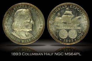 1893 Columbian Commemorative Half Dollar NGC MS64PL
