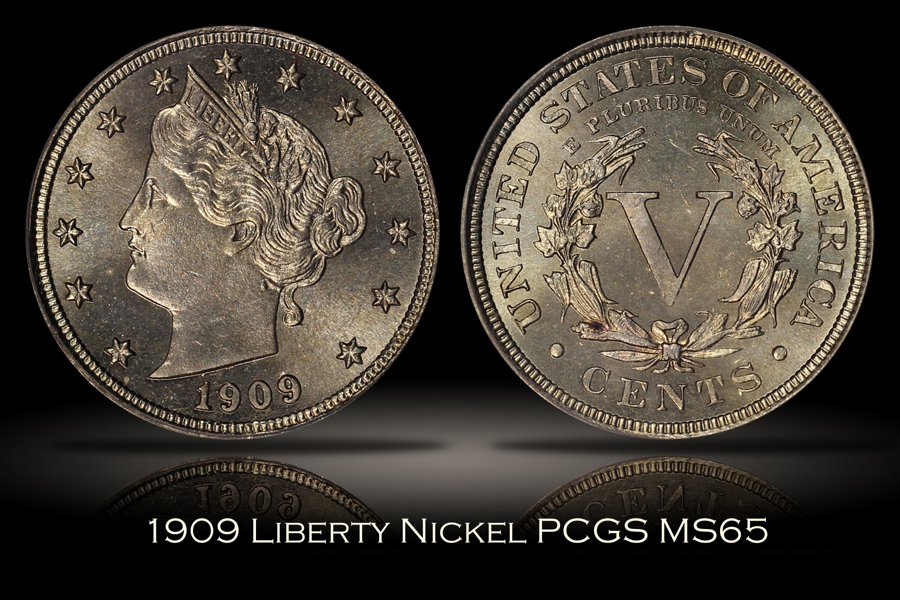 1909 Liberty Nickel PCGS MS65