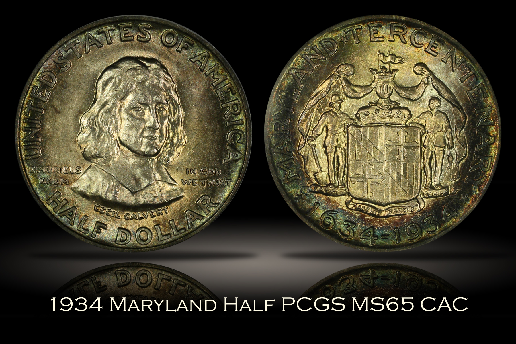 1934 Maryland Half PCGS MS65 CAC