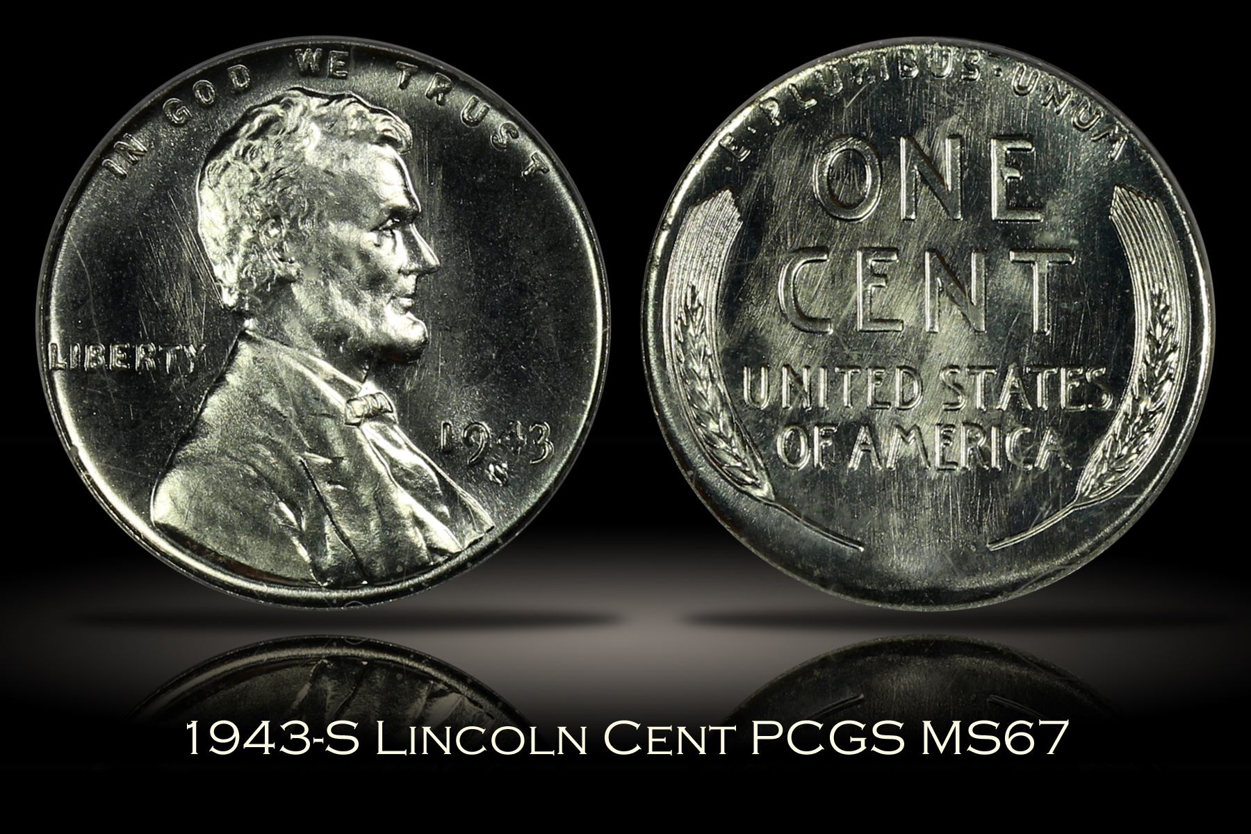 1943-S Lincoln Cent PCGS MS67