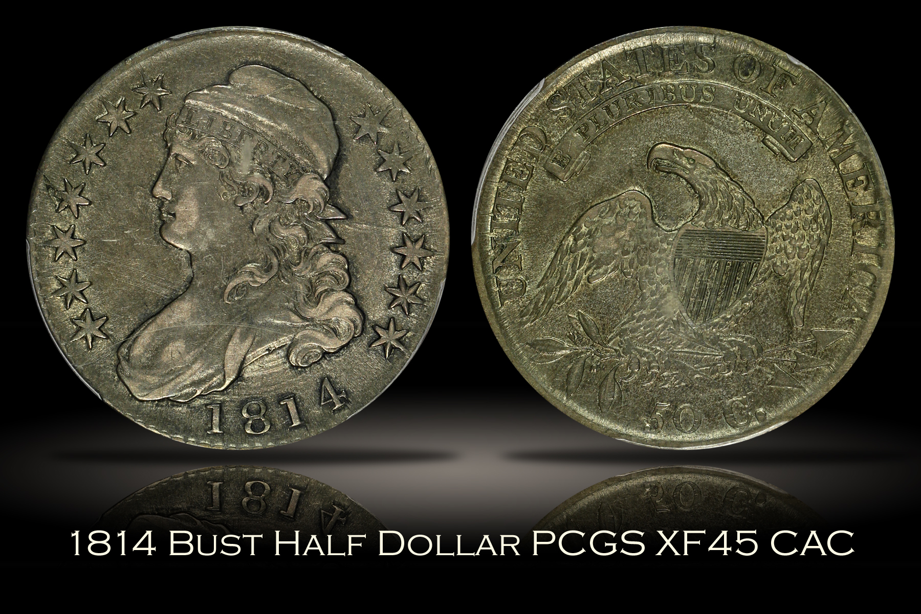 1814 Capped Bust Half Dollar PCGS XF45 CAC