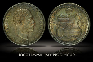 1883 Hawaii Half Dollar NGC MS62