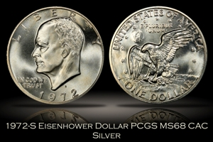 1972-S Silver Eisenhower Dollar PCGS MS68 CAC