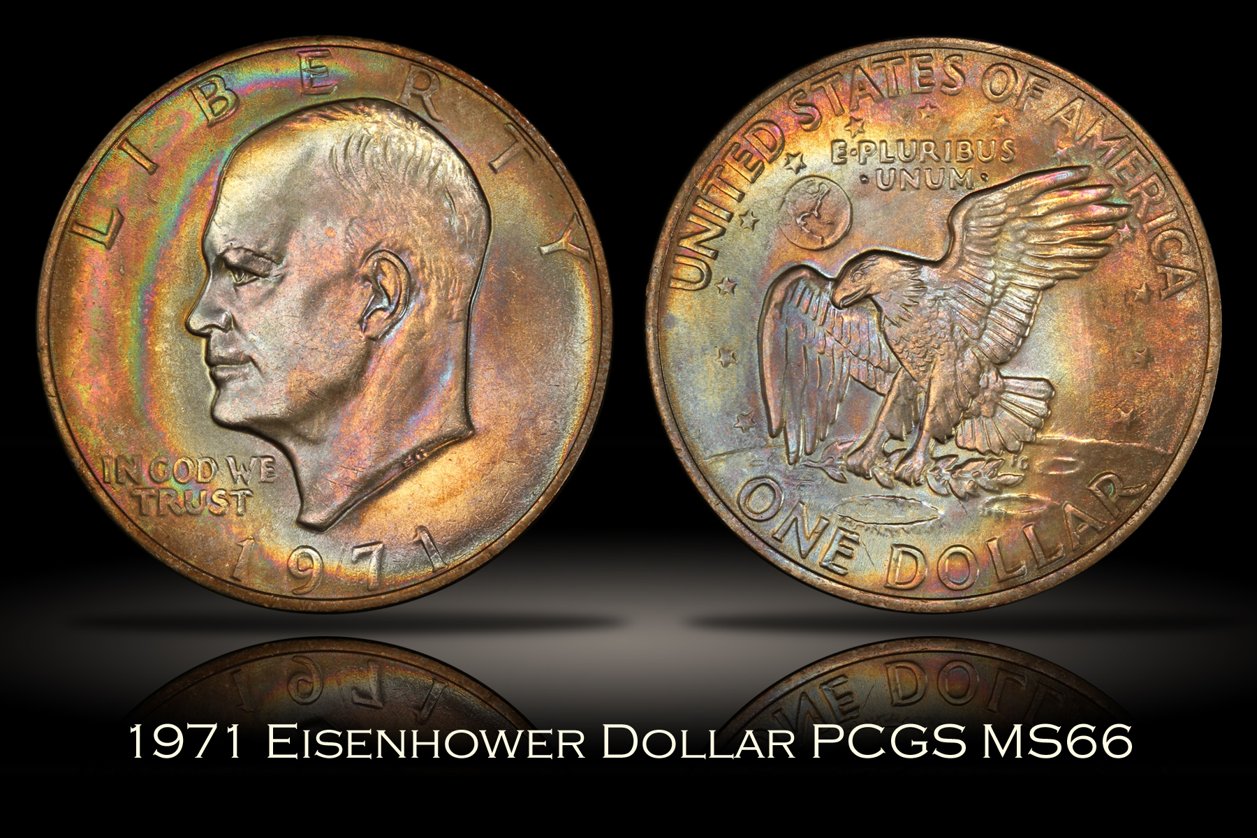 1971 Eisenhower Dollar PCGS MS66