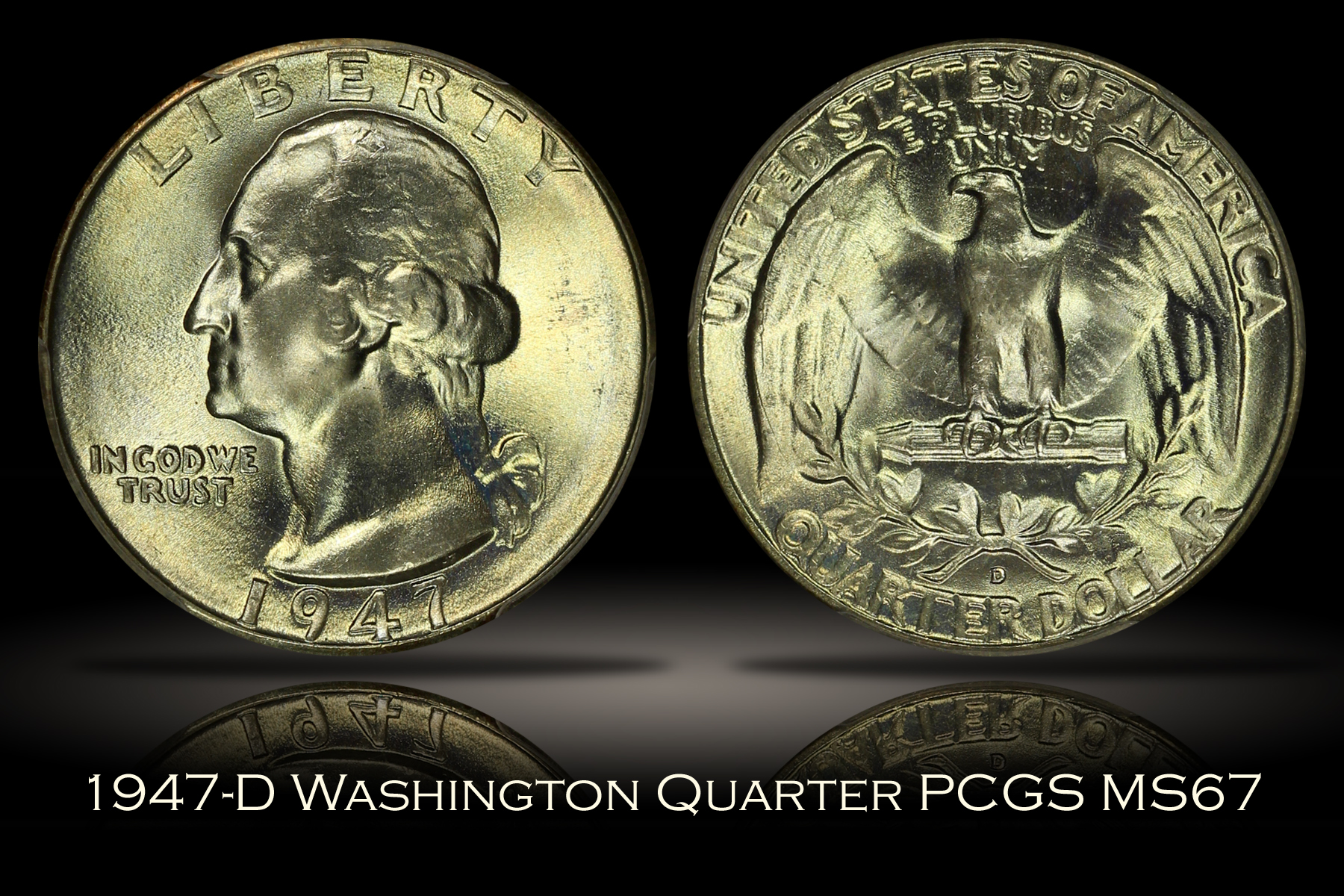 1947-D Washington Quarter PCGS MS67