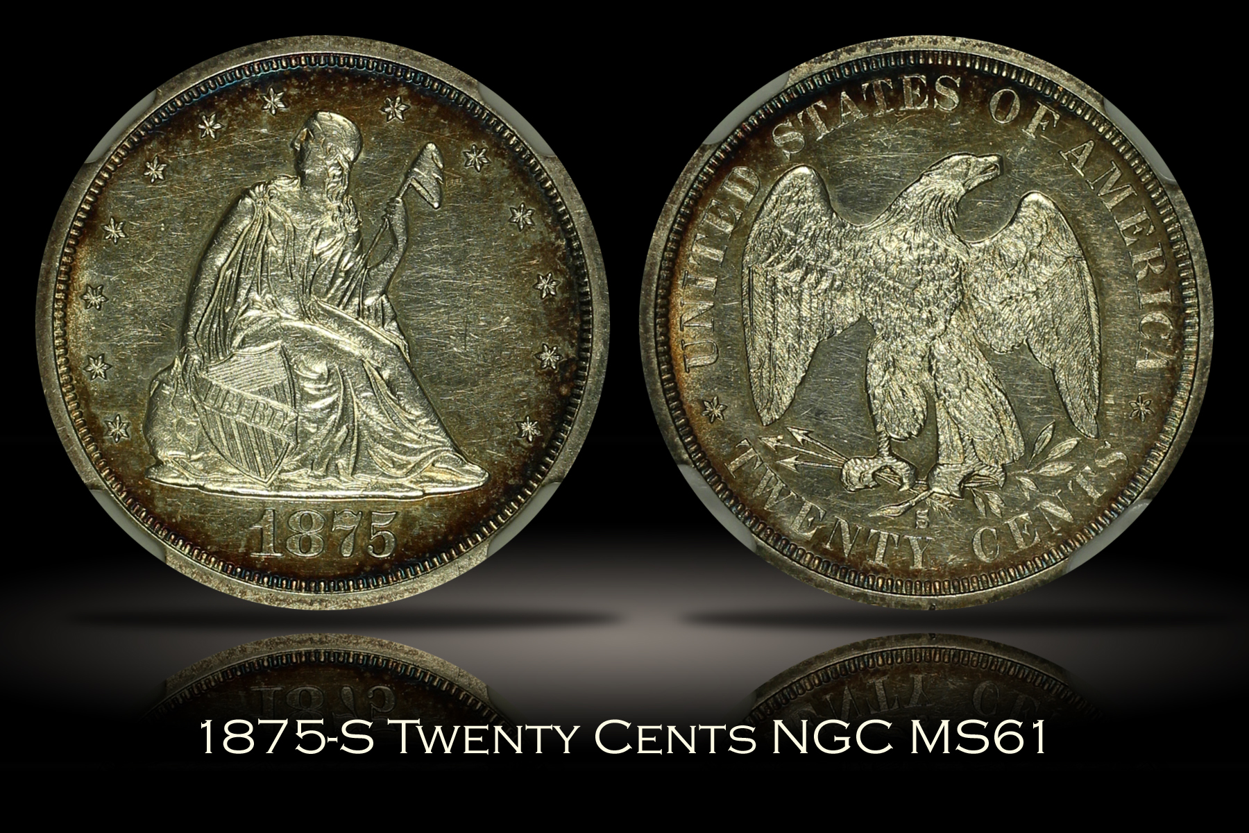 1875-S Twenty Cents NGC MS61