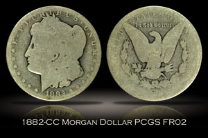 1882-CC Morgan Dollar PCGS FR02