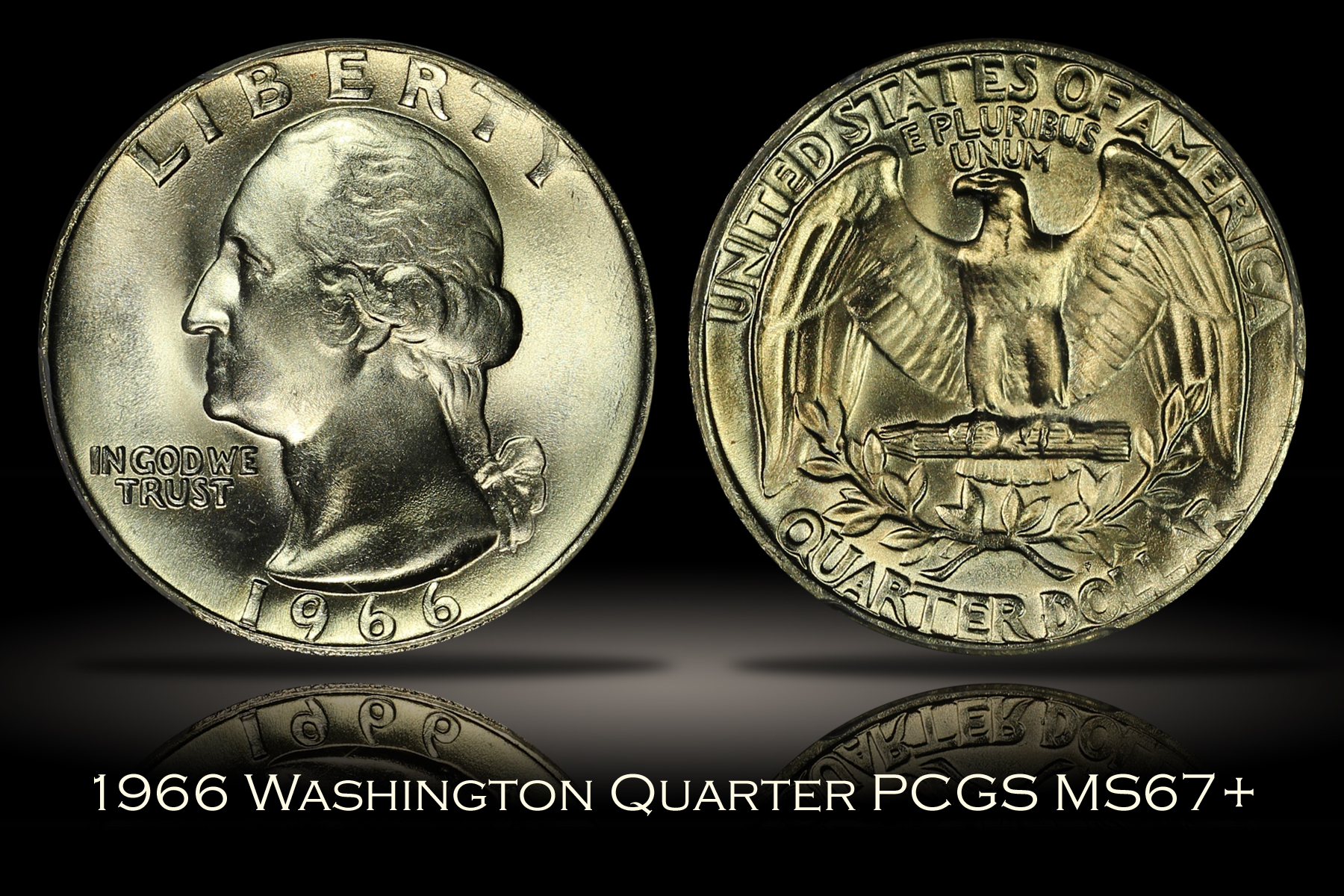 1966 Washington Quarter PCGS MS67+