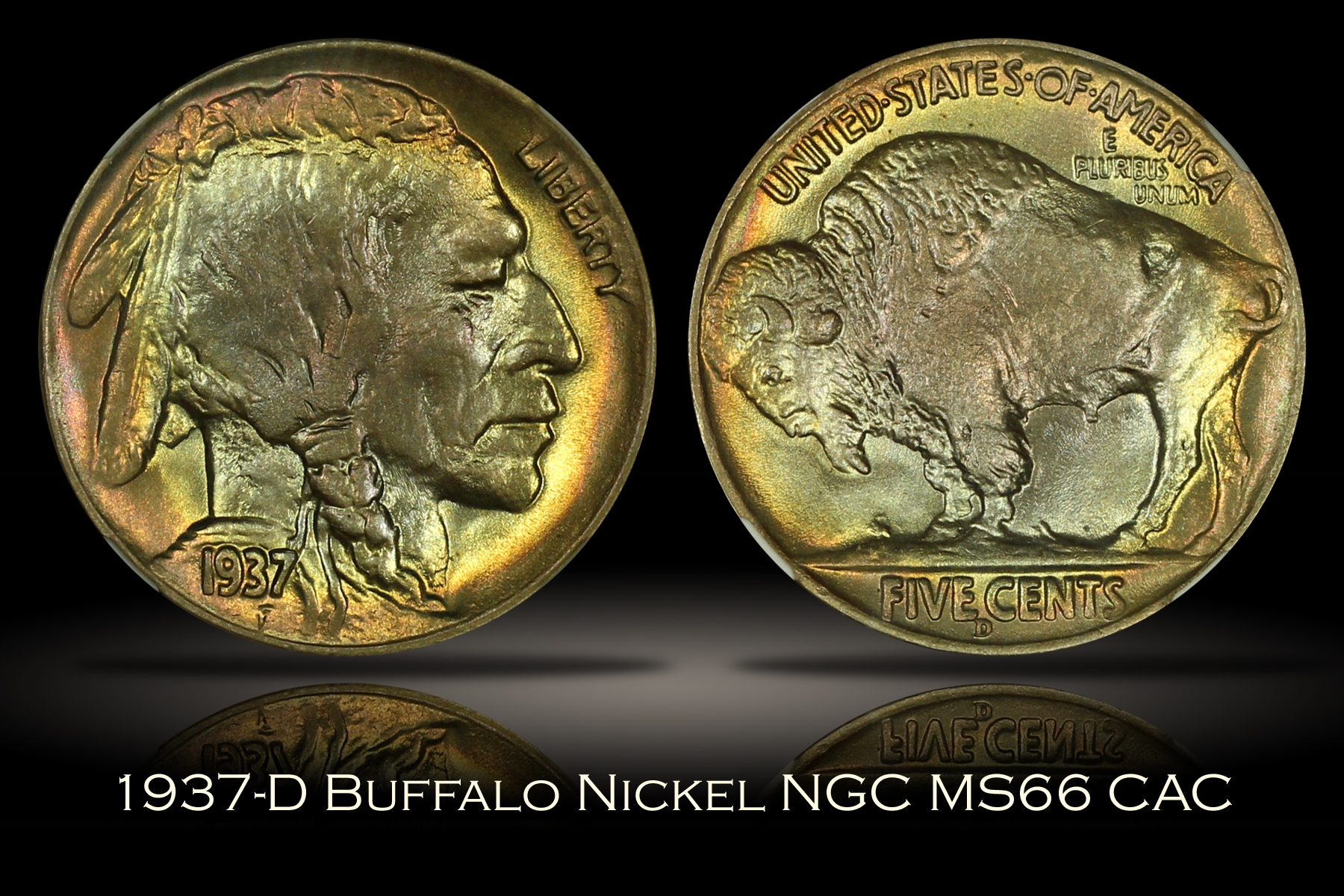 1937-D Buffalo Nickel NGC MS66