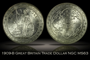 1909-B Great Britain Trade Dollar NGC MS63