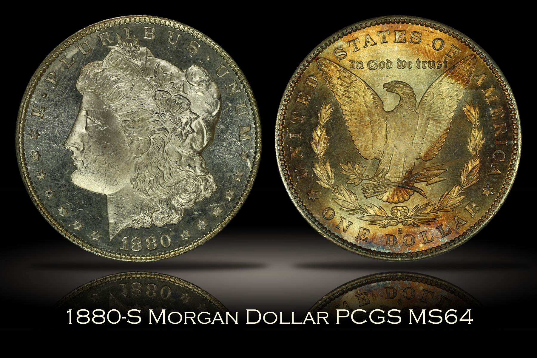 1880-S Morgan Dollar PCGS MS64