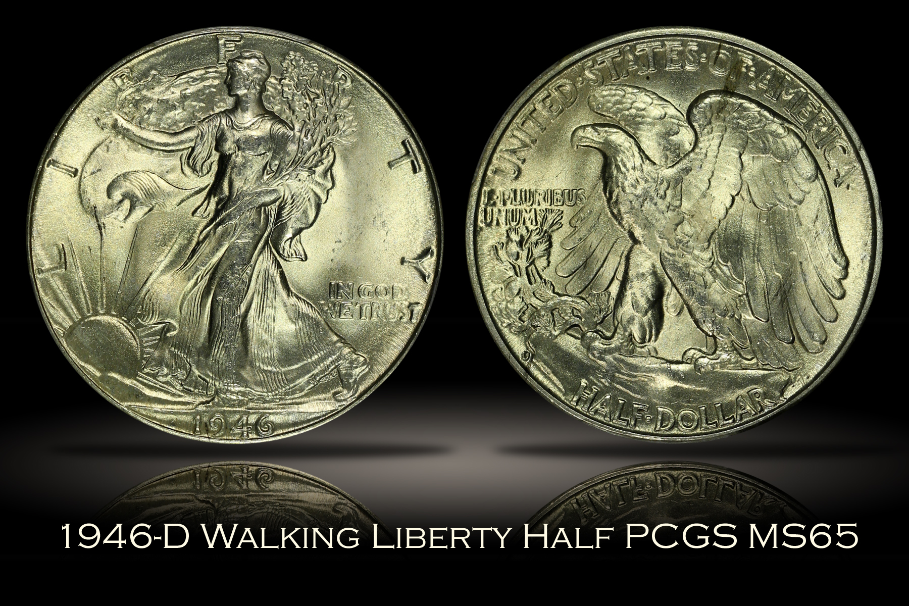 1946-D Walking Liberty Half PCGS MS65