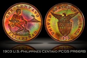 1903 U.S.-Philippines Proof Centavo PCGS PR66RB