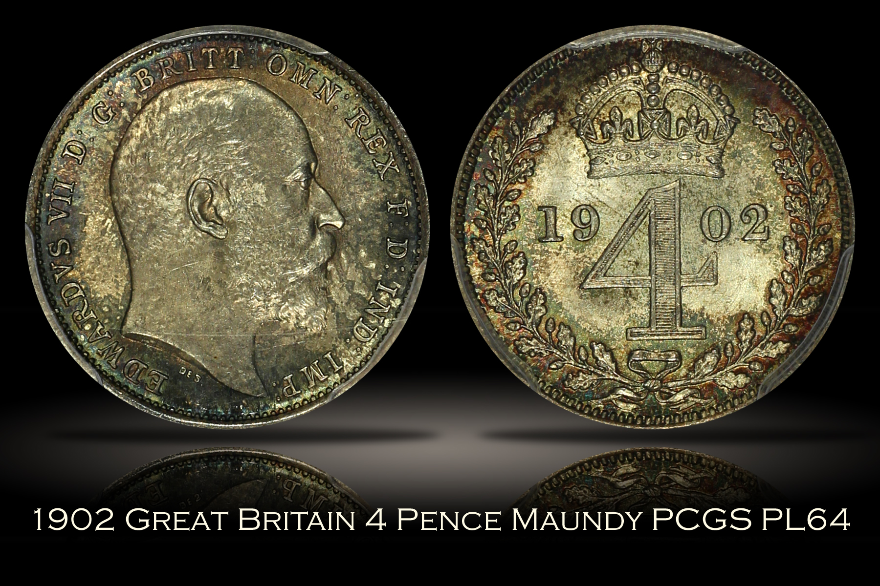 1902 Great Britain 4 Pence Maundy PCGS PL64