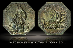 1925 Norse Medal Thin PCGS MS64