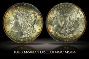 1886 Morgan Dollar NGC MS64
