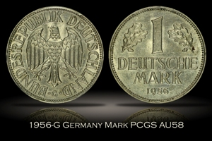 1956-G Germany Mark PCGS AU58