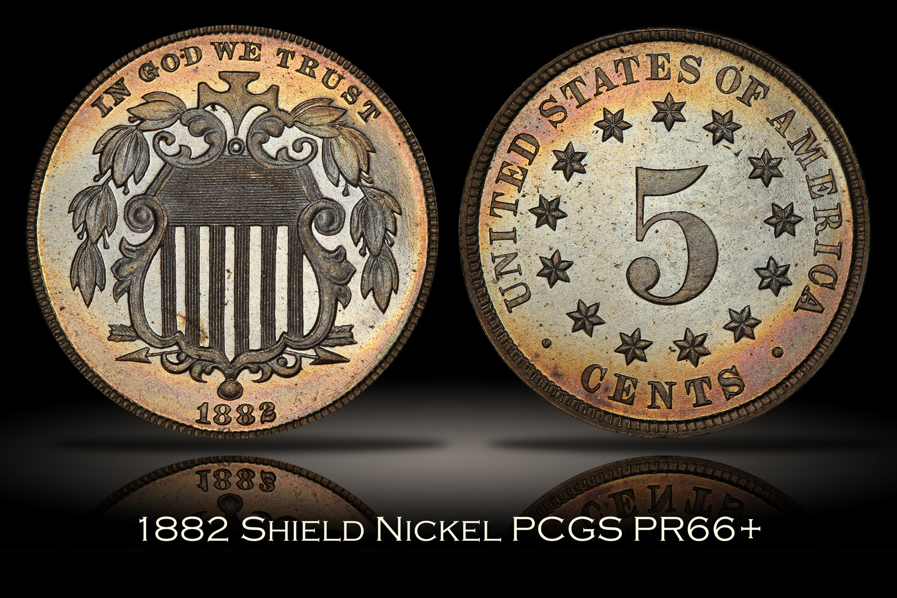 1882 Proof Shield Nickel PCGS PR66+