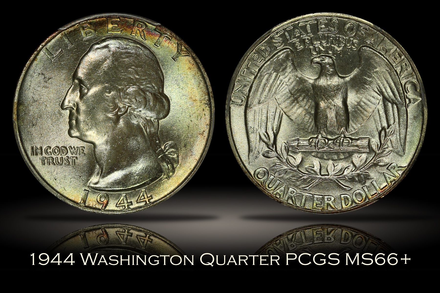 1944 Washington Quarter PCGS MS66+