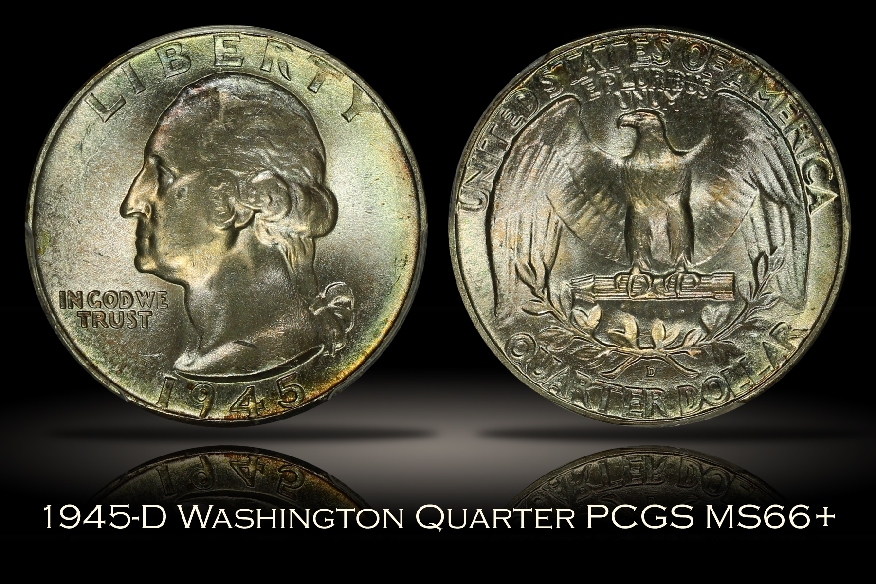 1945-D Washington Quarter PCGS MS66+
