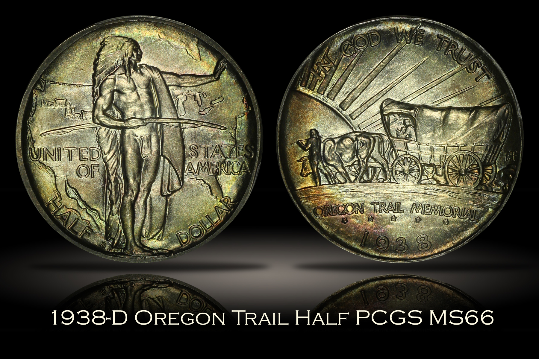 1938-D Oregon Half PCGS MS66