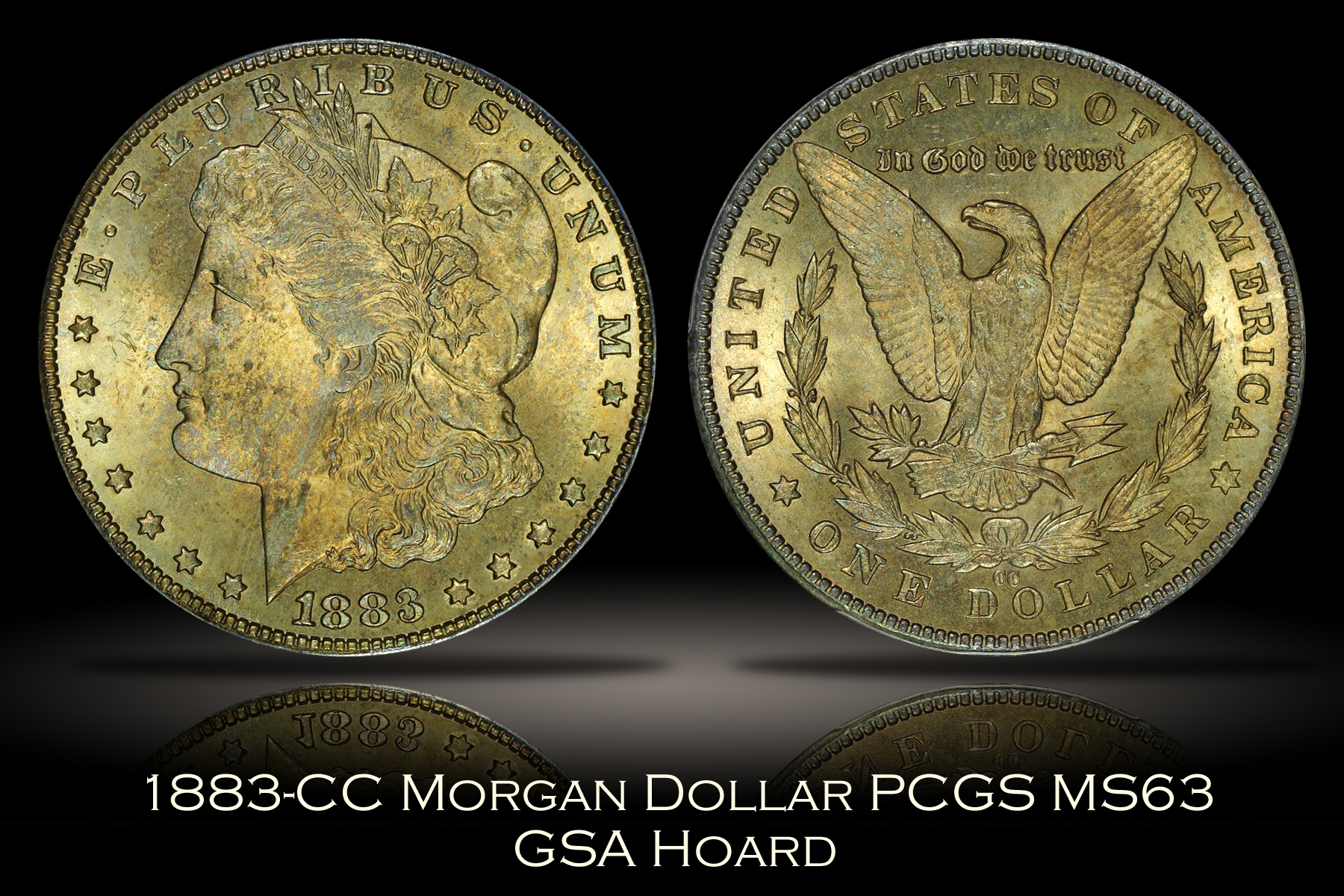 1883-CC Morgan Dollar PCGS MS63 GSA Hoard