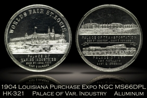 1904 Louisiana Purchase Expo Palace of Varied Industry HK-321 NGC MS66DPL