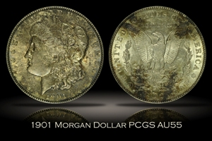 1901 Morgan Dollar PCGS AU55