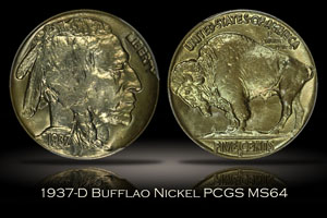 1937-D Buffalo Nickel PCGS MS64