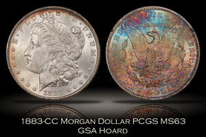 1883-CC Morgan Dollar PCGS MS63 GSA