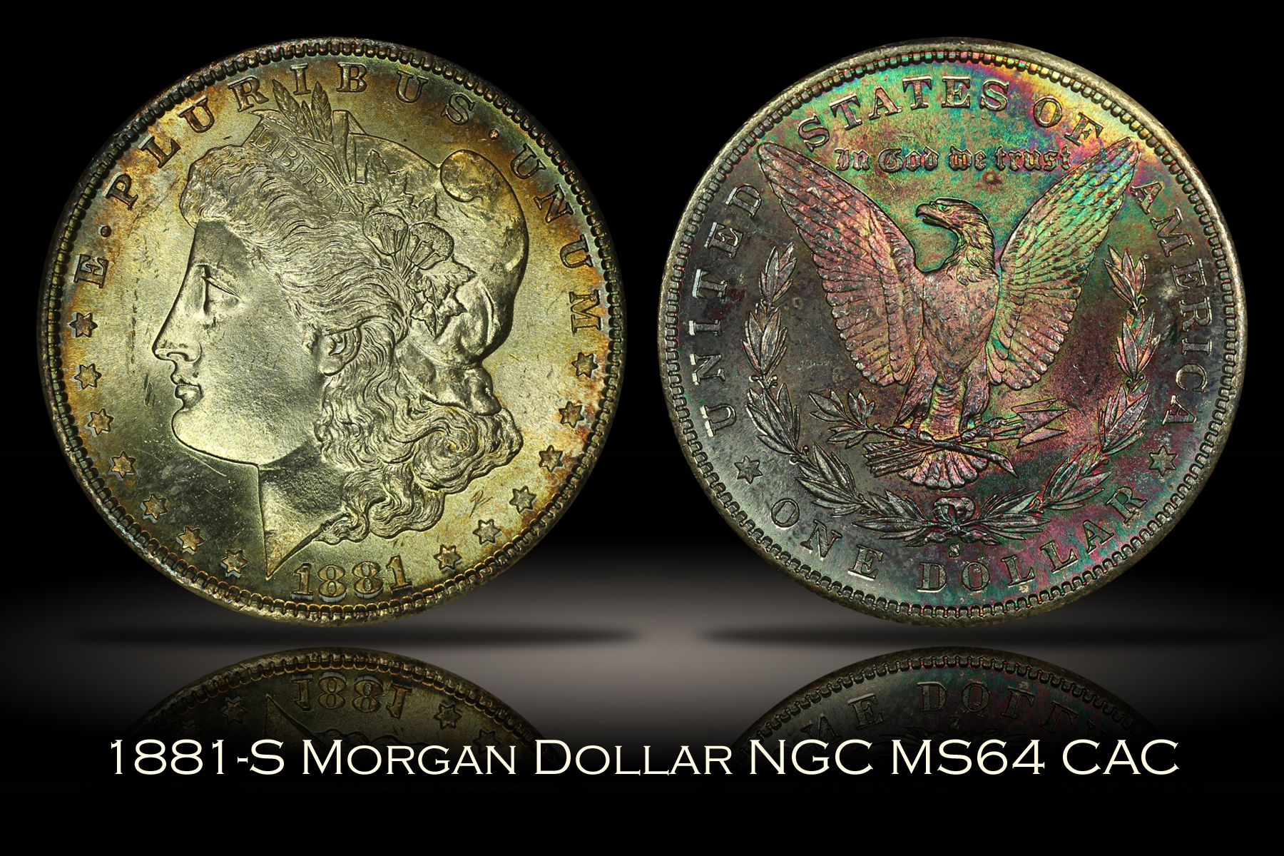 1881-S Morgan Dollar NGC MS64 CAC