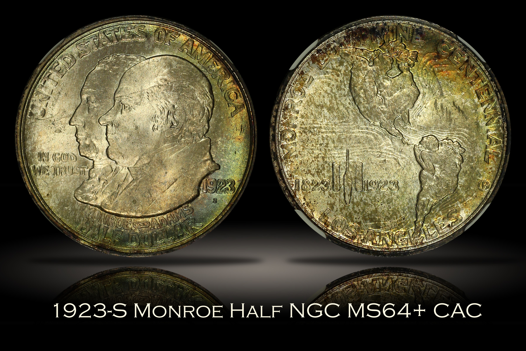 1923-S Monroe Doctrine Half NGC MS64+ CAC