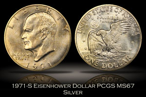 1971-S Eisenhower Silver Dollar PCGS MS67