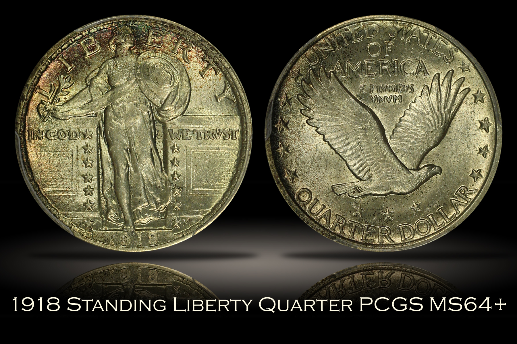 1918 Standing Liberty Quarter PCGS MS64+