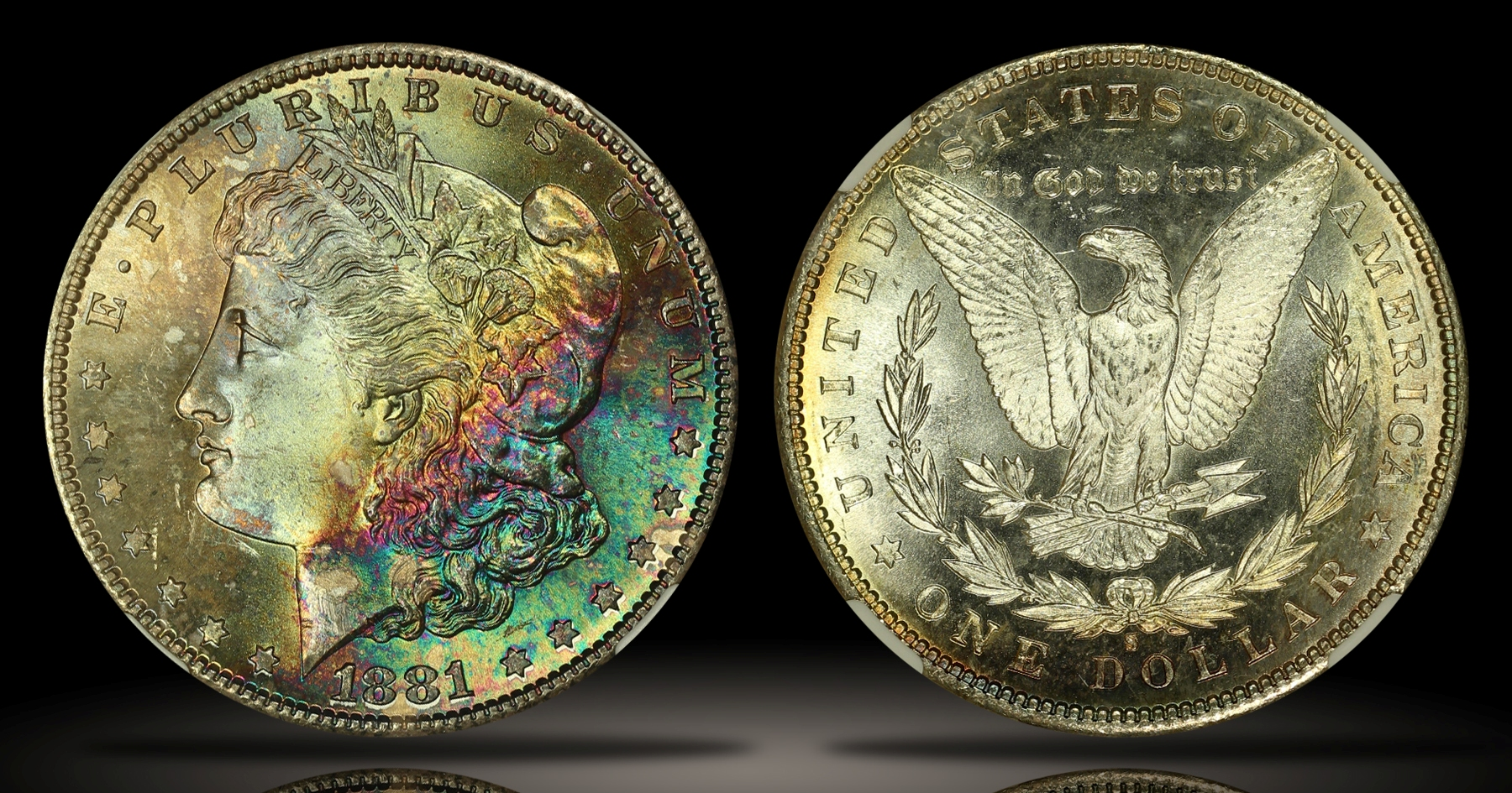 1881-S Morgan Dollar NGC MS67*