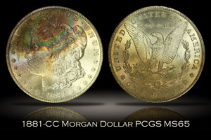 1881-CC Morgan Dollar PCGS MS65